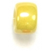 Crowbeads 9mm Glass Luster Yellow